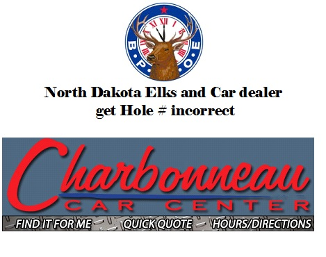 American Hole in One Prize Not Awarded Complaints NON Payment Buick GMC Hole in One Car Dealer Program frauds.html