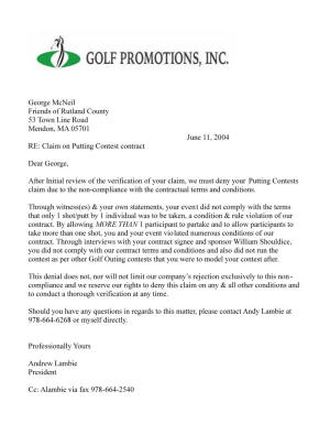 Golf Promotions Putting Contest Mishap Massachusetts Golf Rules