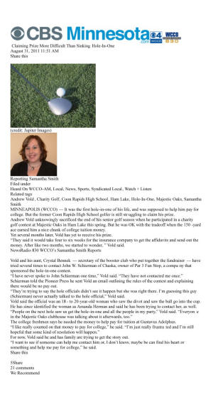 Golf Cheater Golf Cheat Hole in One Insurance Contest