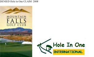 Hole in One International Golf Course complaint Mishap Fraud Claim California