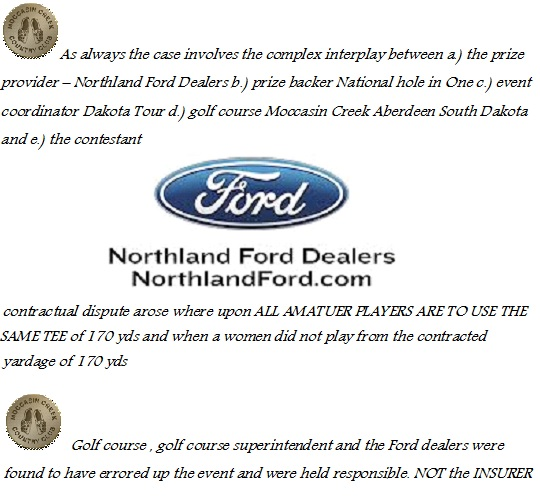 Hole in One Northland Ford Dealers Golf Digest Planner NADA News Ripoff J Ryder Group Fraud Complaint