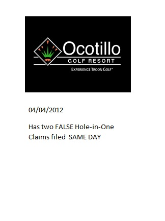 Golfers lie about Hole in One Case prize denied Golfer attempts to defraud Hole in One Company claim forms